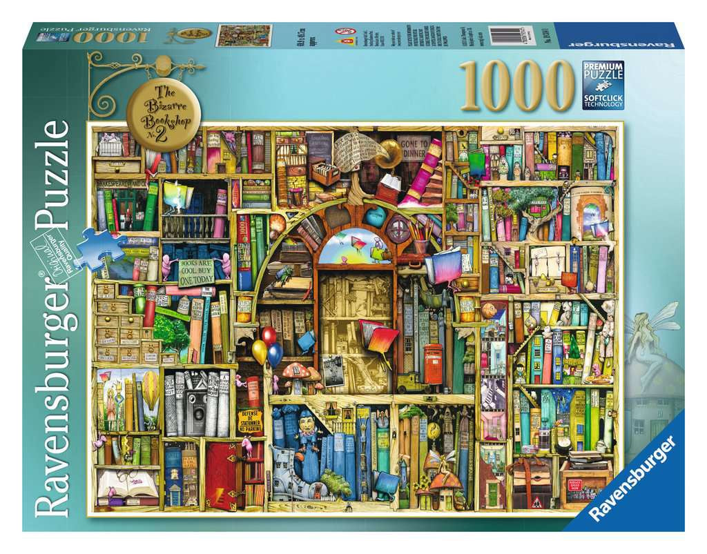 Ravensburger The Bizarre Bookshop No.2 1000 Piece Puzzle