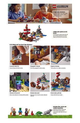 21152 LEGO Minecraft The Pirate Ship Adventure