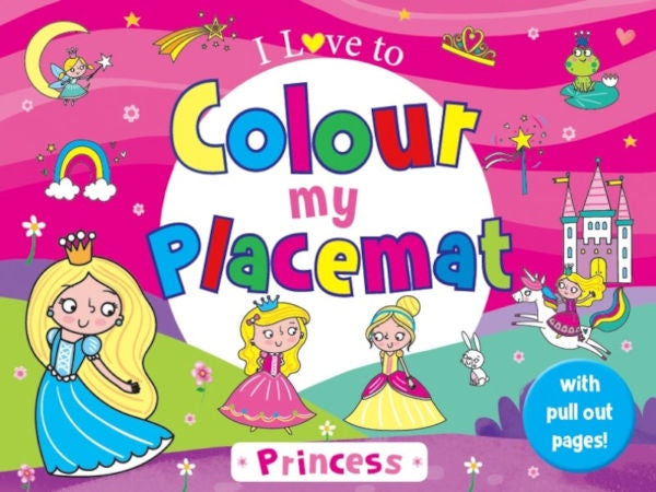 Colour my Placemat - Princess