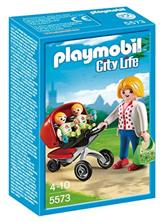 5573 Playmobil Mother with Twin Stroller