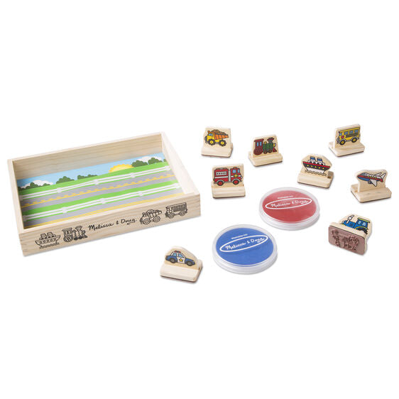 2391 Melissa & Doug My First Wooden Stamp Set - Vehicles