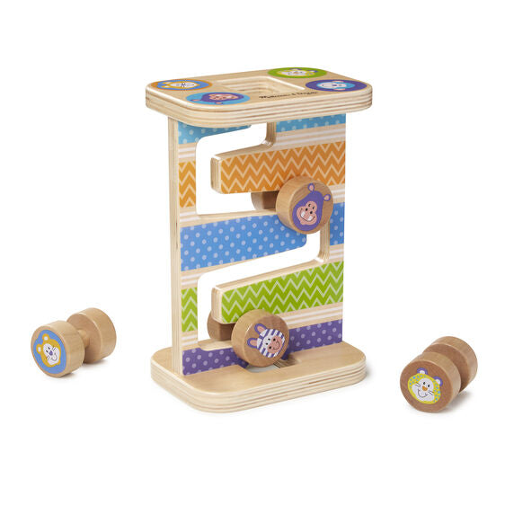 30125 Melissa & Doug First Play Wooden Safari Zig-Zag Tower With 4 Rolling Pieces