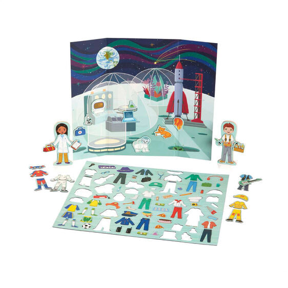 30653 Melissa & Doug Magnetivity Magnetic Dress-Up Play Set - Dress & Play Careers