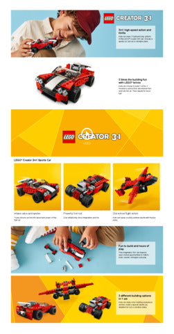 31100 LEGO Creator 3 in 1 Sports Car
