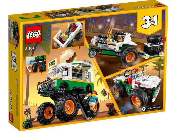 31104 LEGO Creator 3 in 1 Monster Burger Truck
