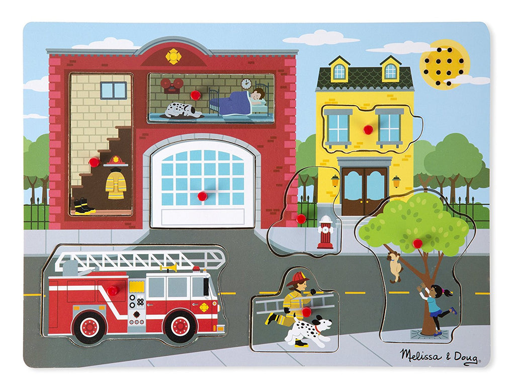 736 Melissa & Doug Sound Puzzle Around the Fire Station