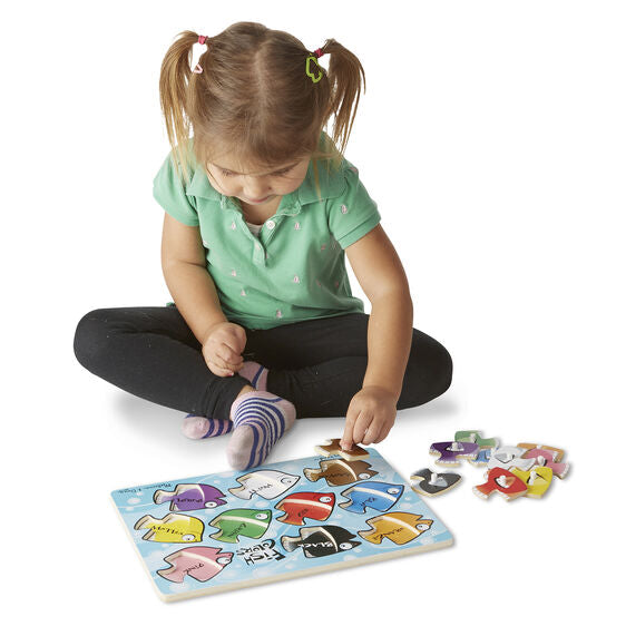 3268 Melissa & Doug Fish Coulors Mix 'n Match Peg Puzzle