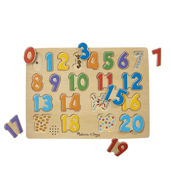 339 Melissa & Doug Numbers Sound Puzzle