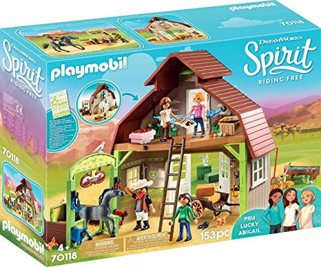 70118 Playmobil Barn with Lucky, Pru & Abigail