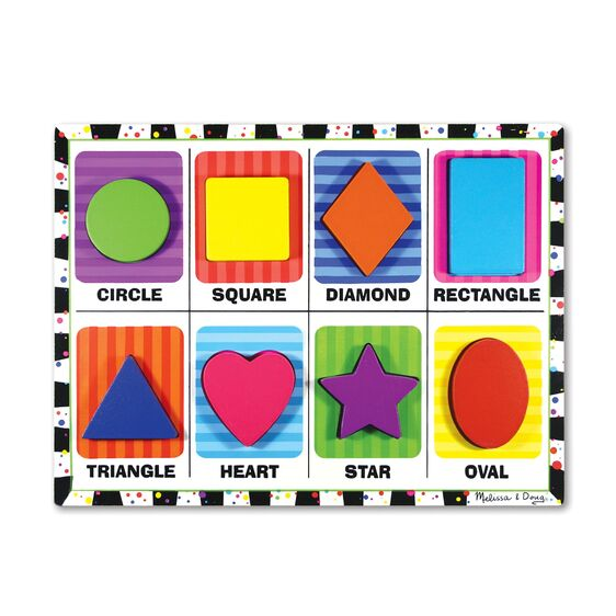 3730 Melissa & Doug Shapes Chunky Puzzle