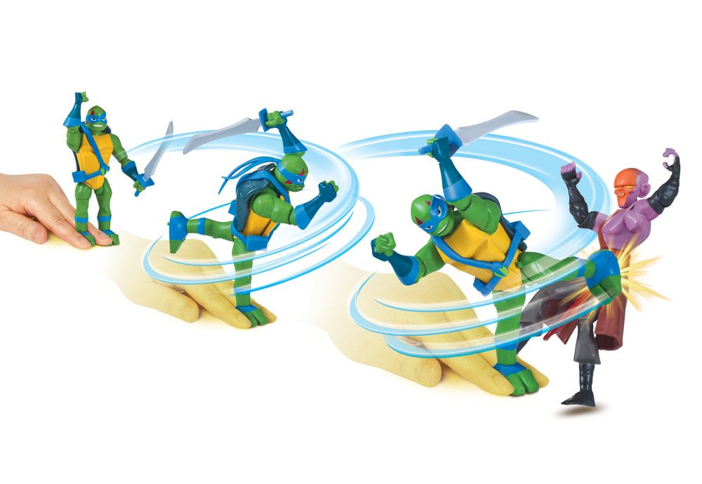 Rise of the Teenage Mutant Ninja Turtles Ninja Spin Action Figures