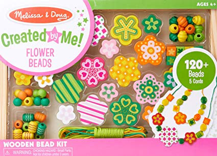 4178 Melissa & Doug Flower Power Wooden Bead Set