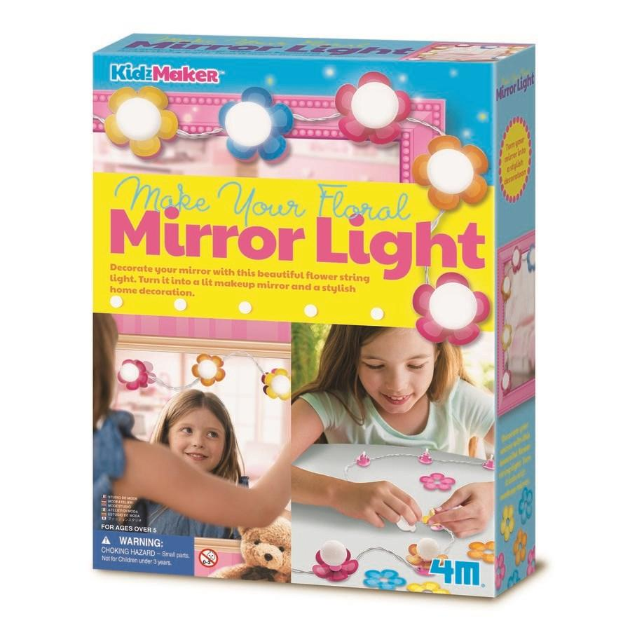4M KidzMaker Make Your Own Floral Mirror Light
