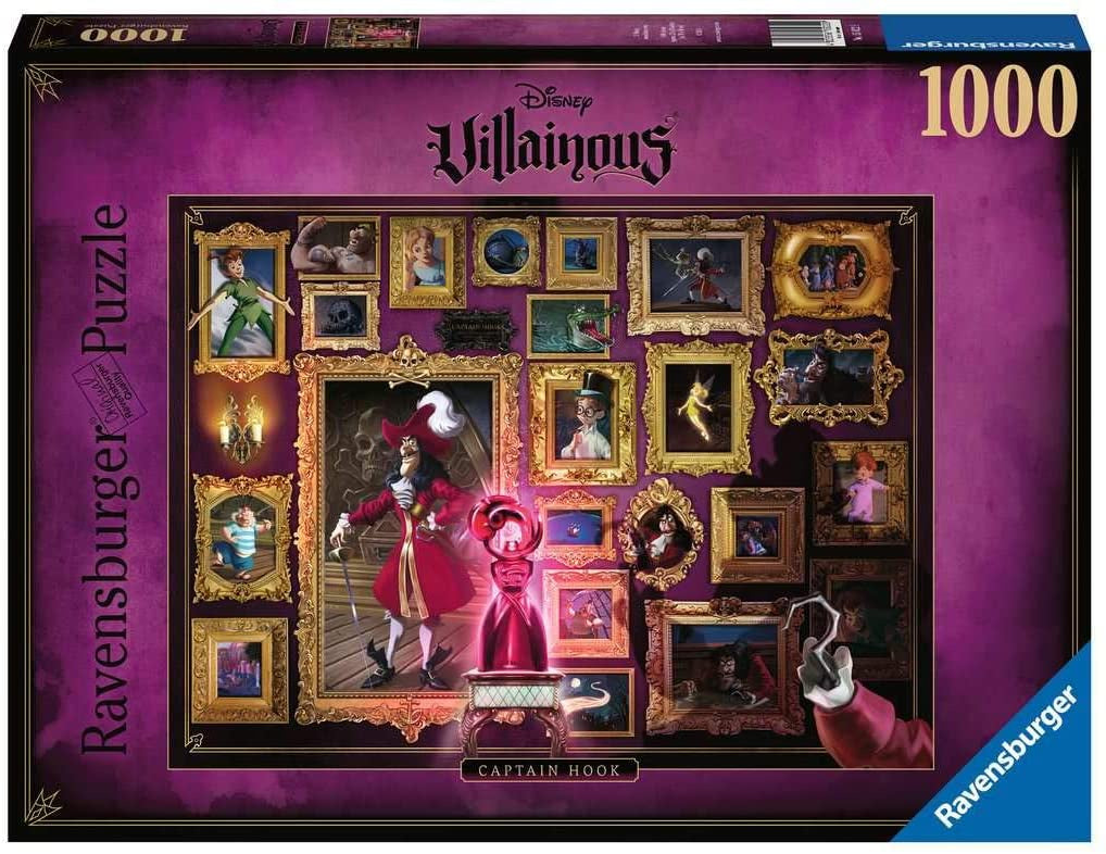 Ravensburger Disney Villainous Captain Hook 1000 Piece Puzzle