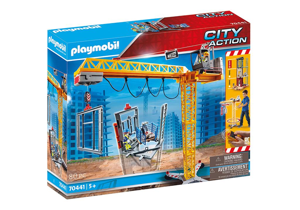 70441 Playmobil RC Crane with Building Section