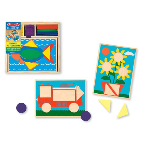 528 Melissa & Doug Beginner Pattern Blocks
