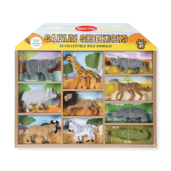593 Melissa & Doug Safari Sidekicks - 10 Collectible Wild Animals
