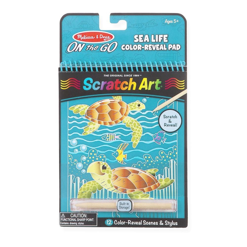 9149 Melissa & Doug Scratch Art Sea Life
