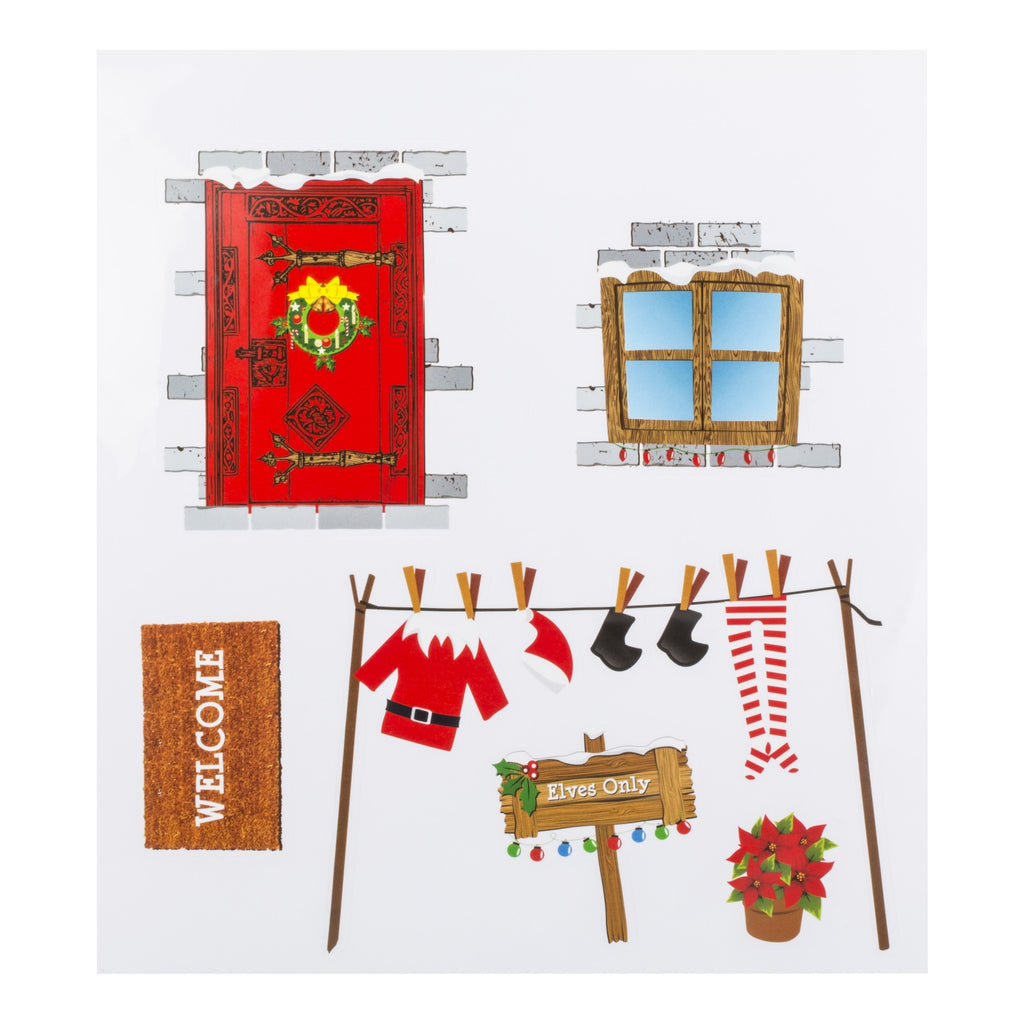 Elves Behavin' Badly Elf House Wall Stickers
