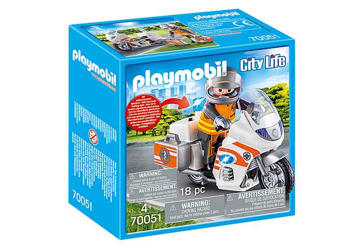 70051 Playmobil Emergency Motorbike