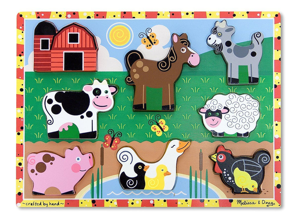 3723 Melissa & Doug Chunky Puzzle Farm Animals