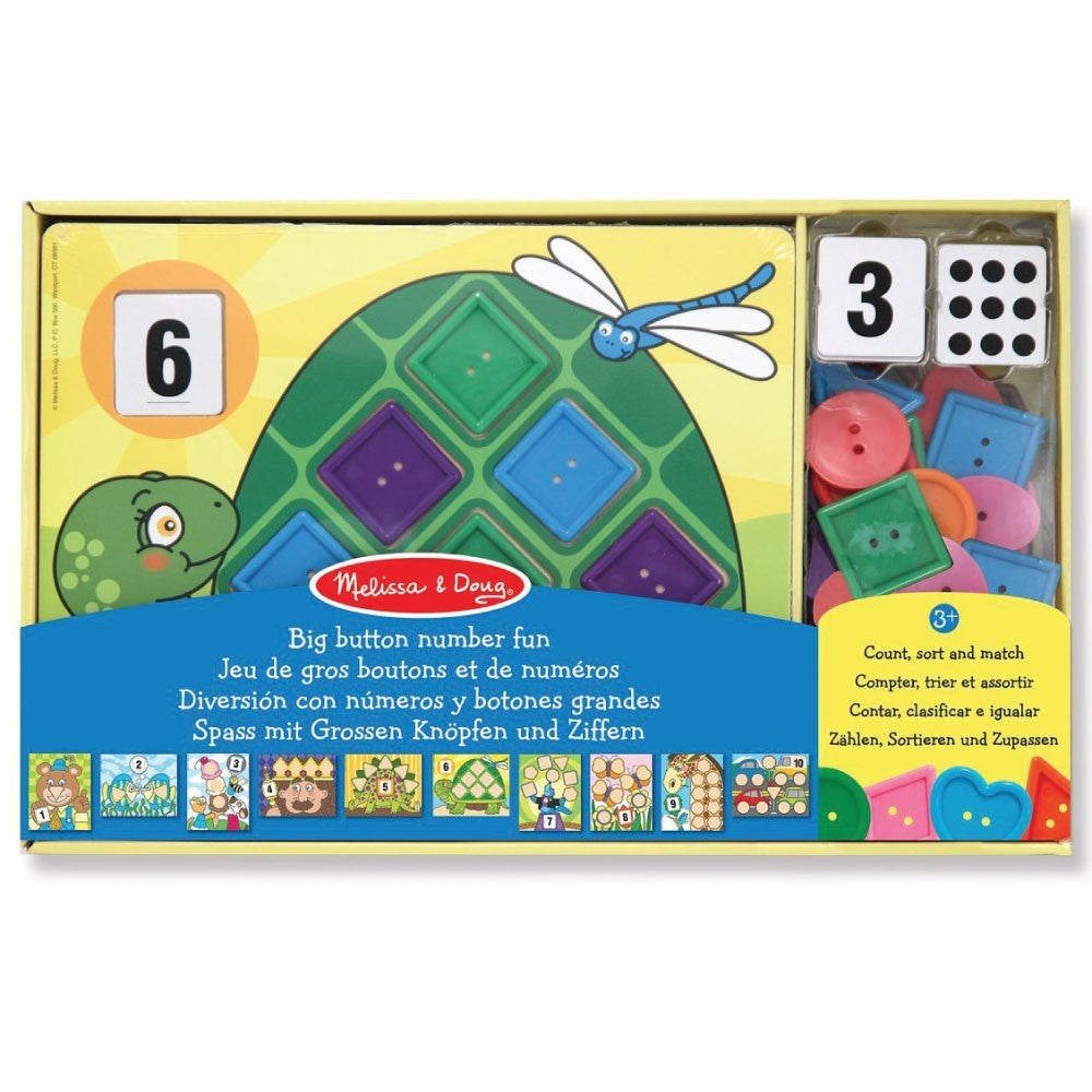 4319 Melissa & Doug Big Button Number Fun