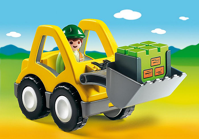 6775 Playmobil 1.2.3 Front Loader