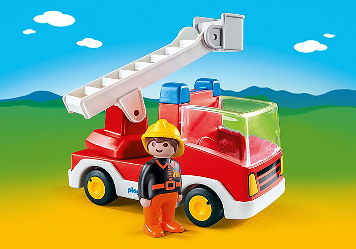 6967 Playmobil 1.2.3 Ladder Unit Fire Truck