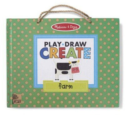 31325 Melissa & Doug Natural Play: Play, Draw, Create Reusable Drawing & Magnet Kit - Farm