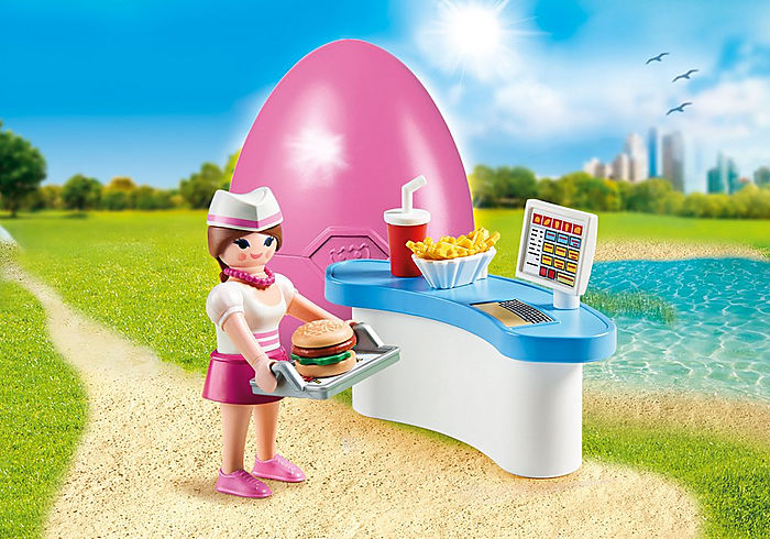 70084 Playmobil Diner Waitress with Counter