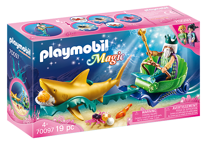 70097 Playmobil King of the Sea with Shark Carriage