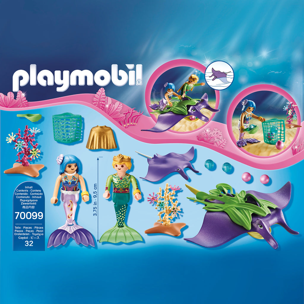 70099 Playmobil Pearl Collectors with Manta Ray