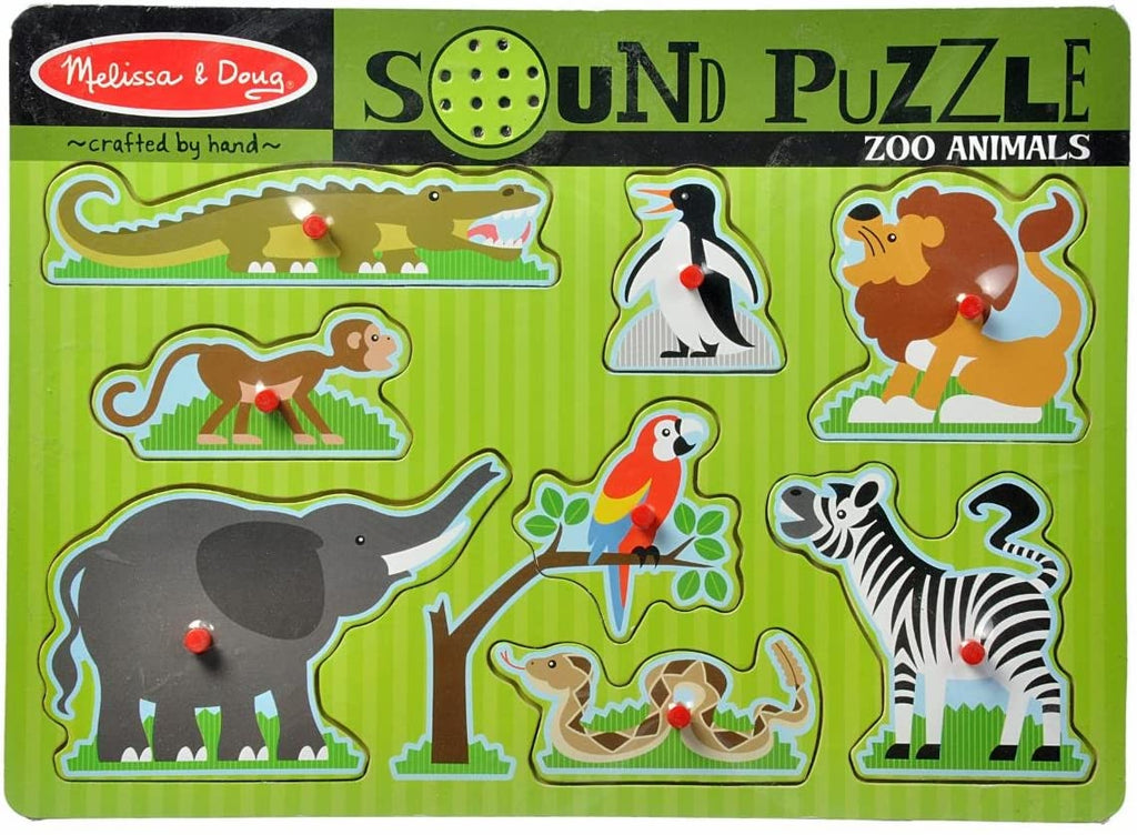 727 Melissa & Doug Zoo Animals Sound Puzzle