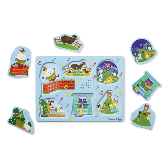 737 Melissa & Doug Sing-Along Nursery Rhymes Sound Puzzle