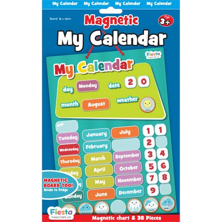 Fiesta Magnetic My Calendar - Blue