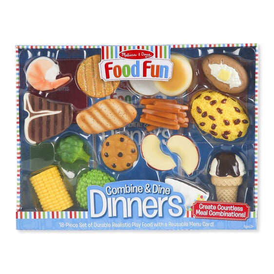 8268 Melissa & Doug Combine and Dine Dinners - 18-piece set