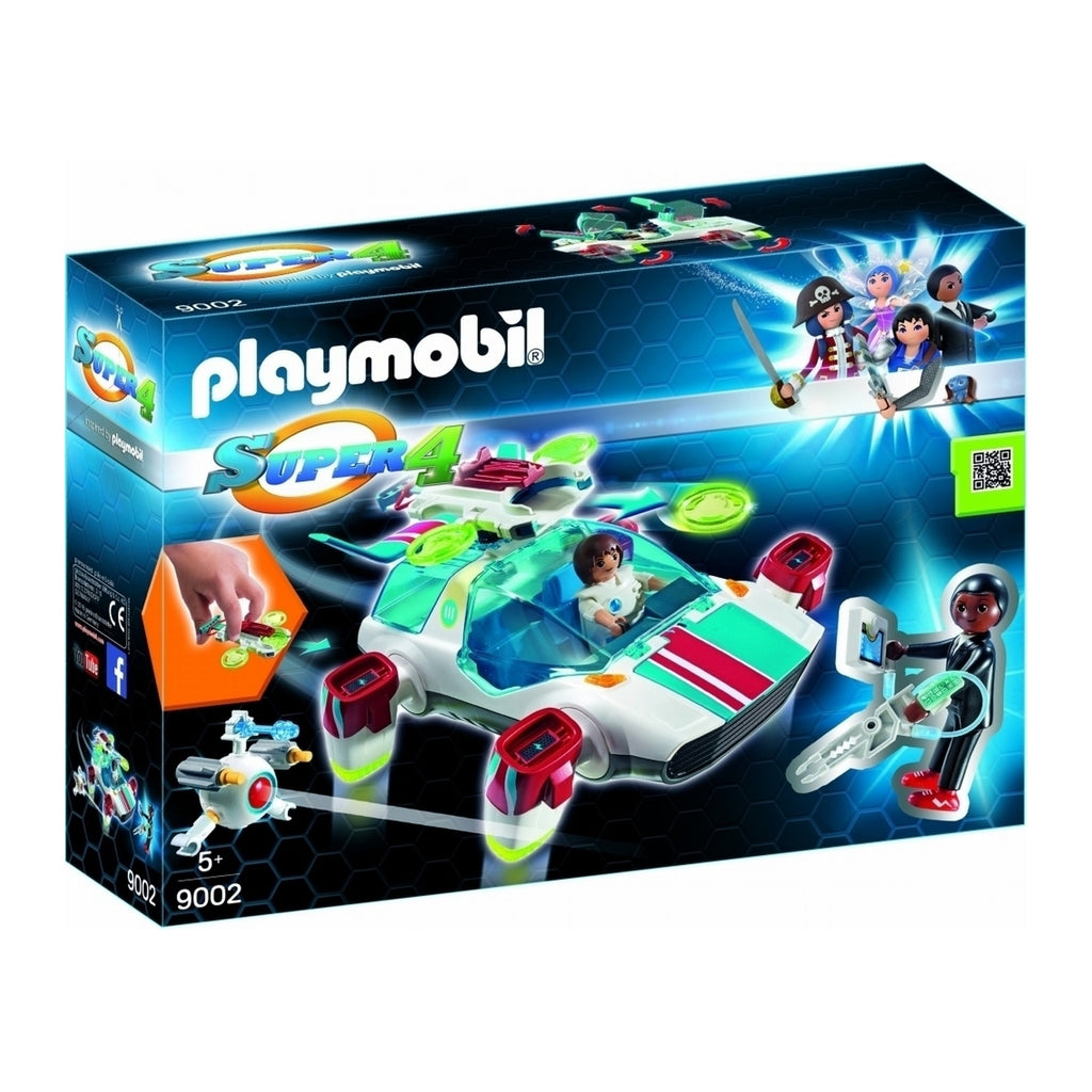 9002 Playmobil Super 4 FulguriX with Agent Gene