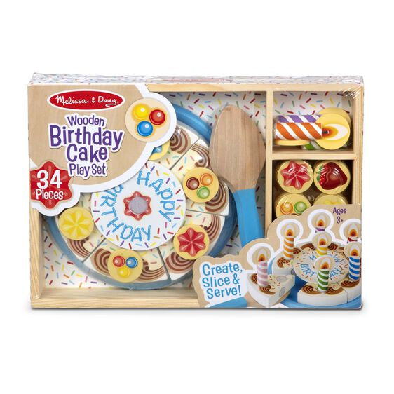 511 Melissa & Doug Birthday Party - Wooden Play Food