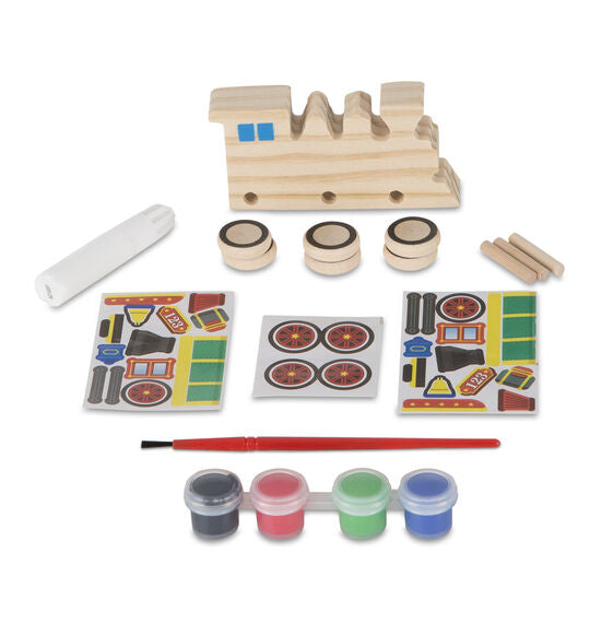 8846 Melissa & Doug Decorate Your Own Wooden Train