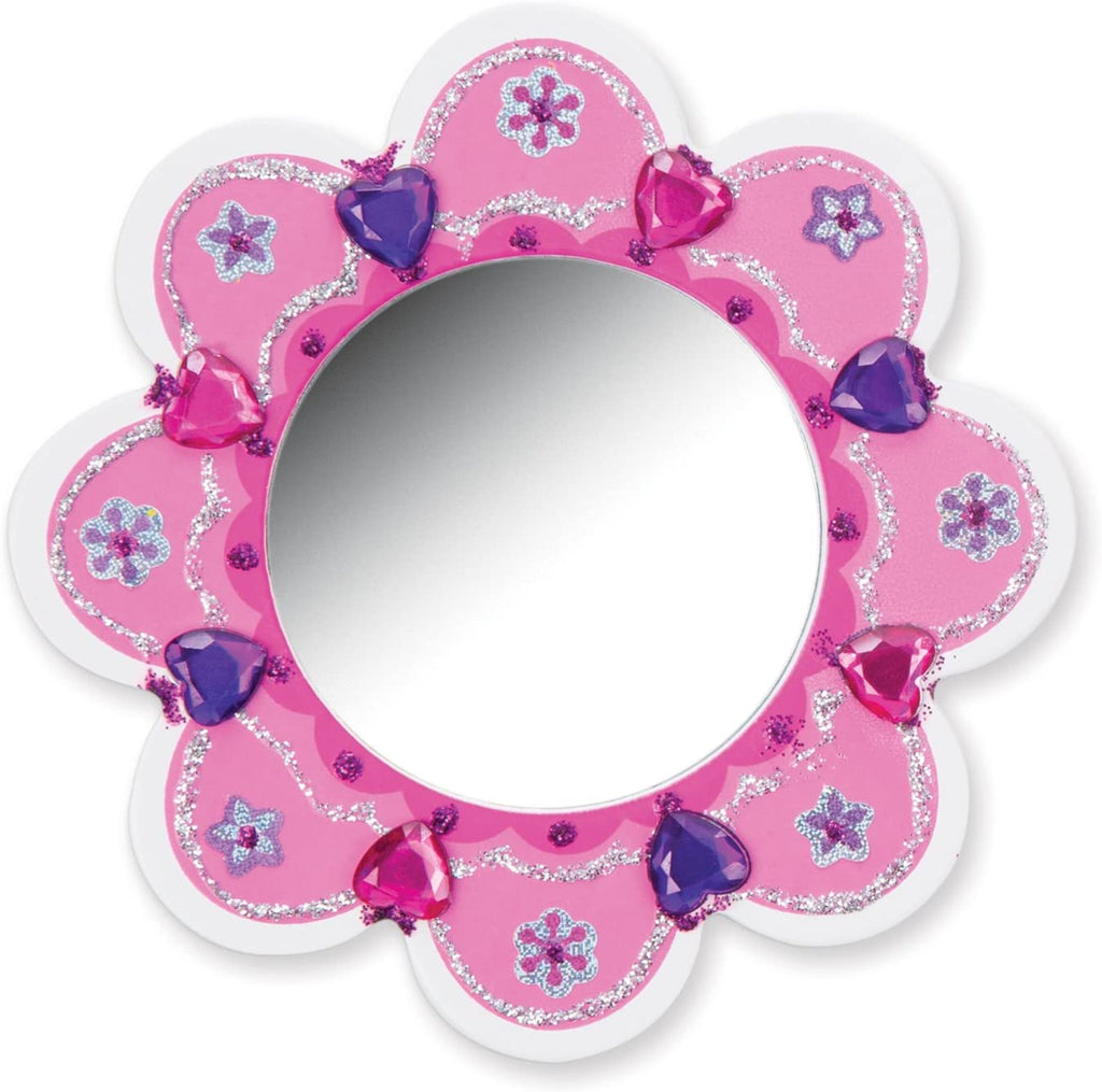 8849 Melissa & Doug Decorate Your Own Wooden Flower Mirror