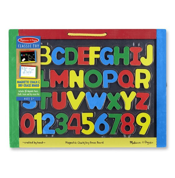 145 Melissa & Doug Magnetic Chalkboard and Dry-Erase Board
