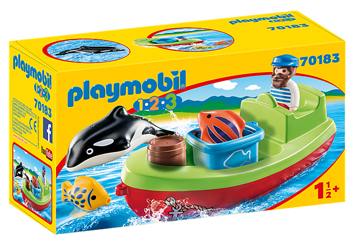 70183 Playmobil 1.2.3. Fisherman with Boat