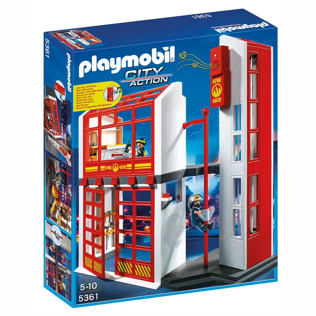 5361 Playmobil Fire Station with Alarm