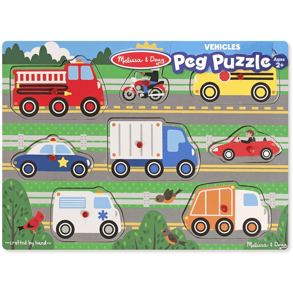 9051 Melissa & Doug Vehicles Peg Puzzle