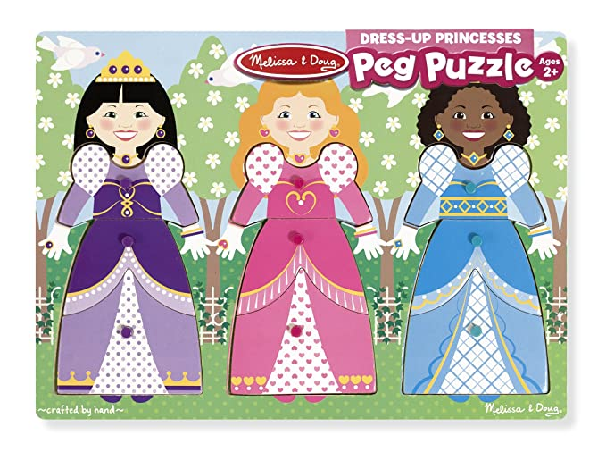 9056 Melissa & Doug Princess Dress Up Peg Puzzle