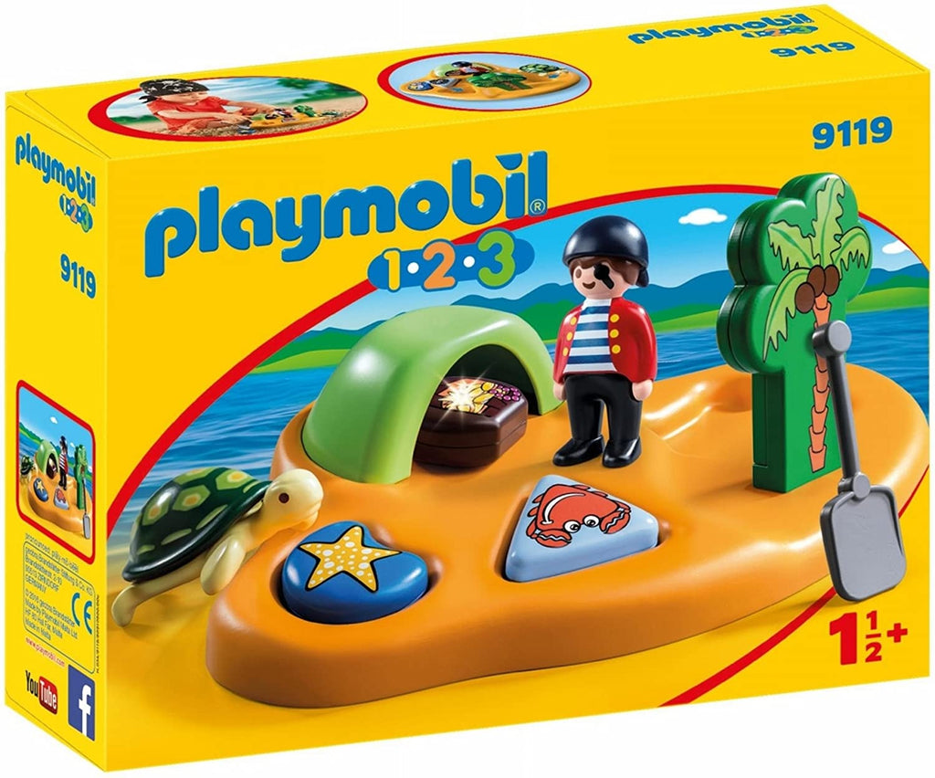 9119 Playmobil 1.2.3. Pirate Island