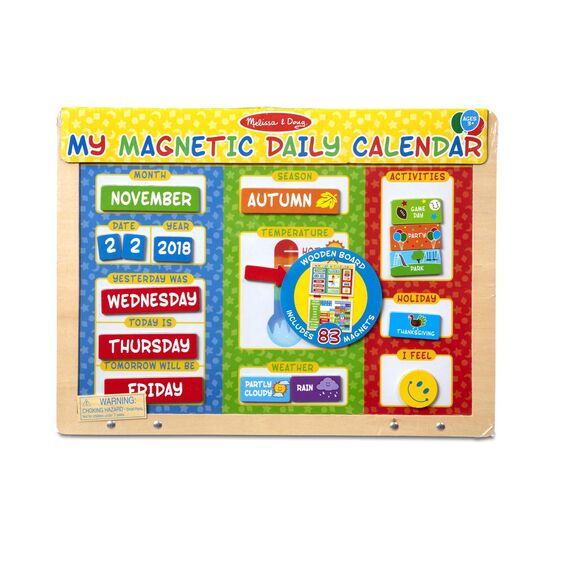 9253 Melissa & Doug My Magnetic Daily Calendar