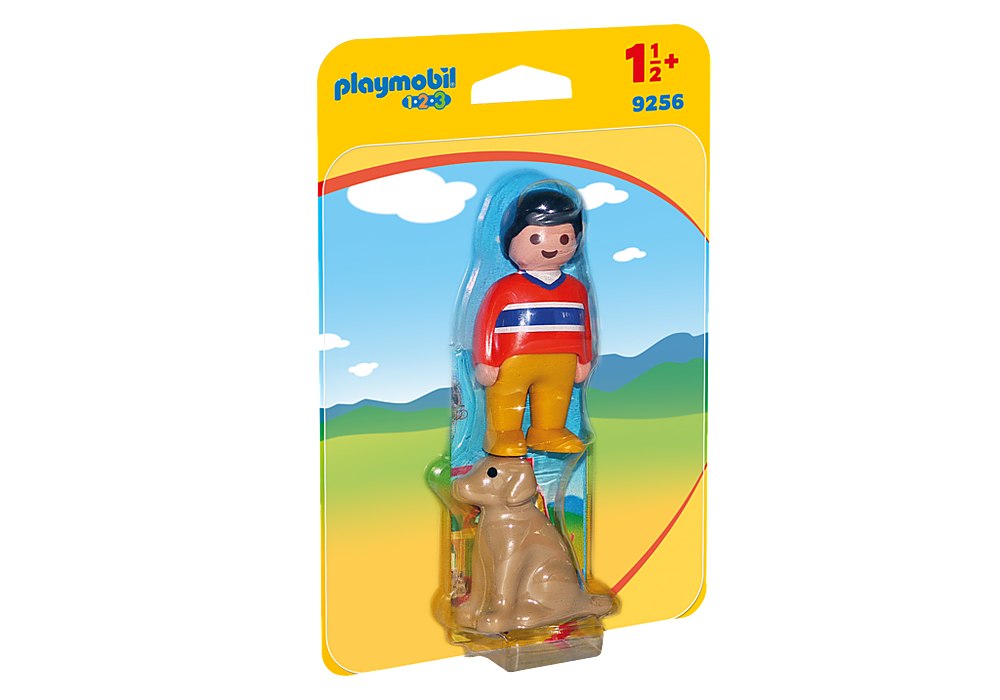 9256 Playmobil 1.2.3. Man with Dog