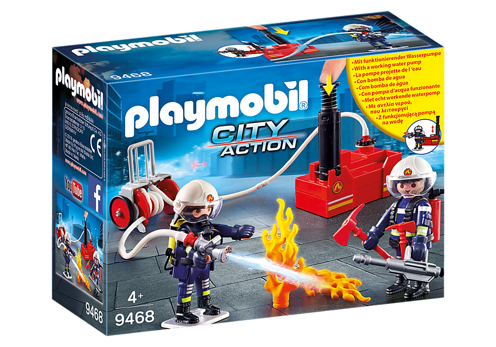 9468 Playmobil Firefighters with Water Pump