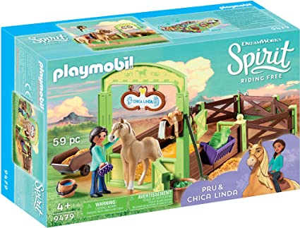 9479 Playmobil Pru & Chica Linda with Horse Stall
